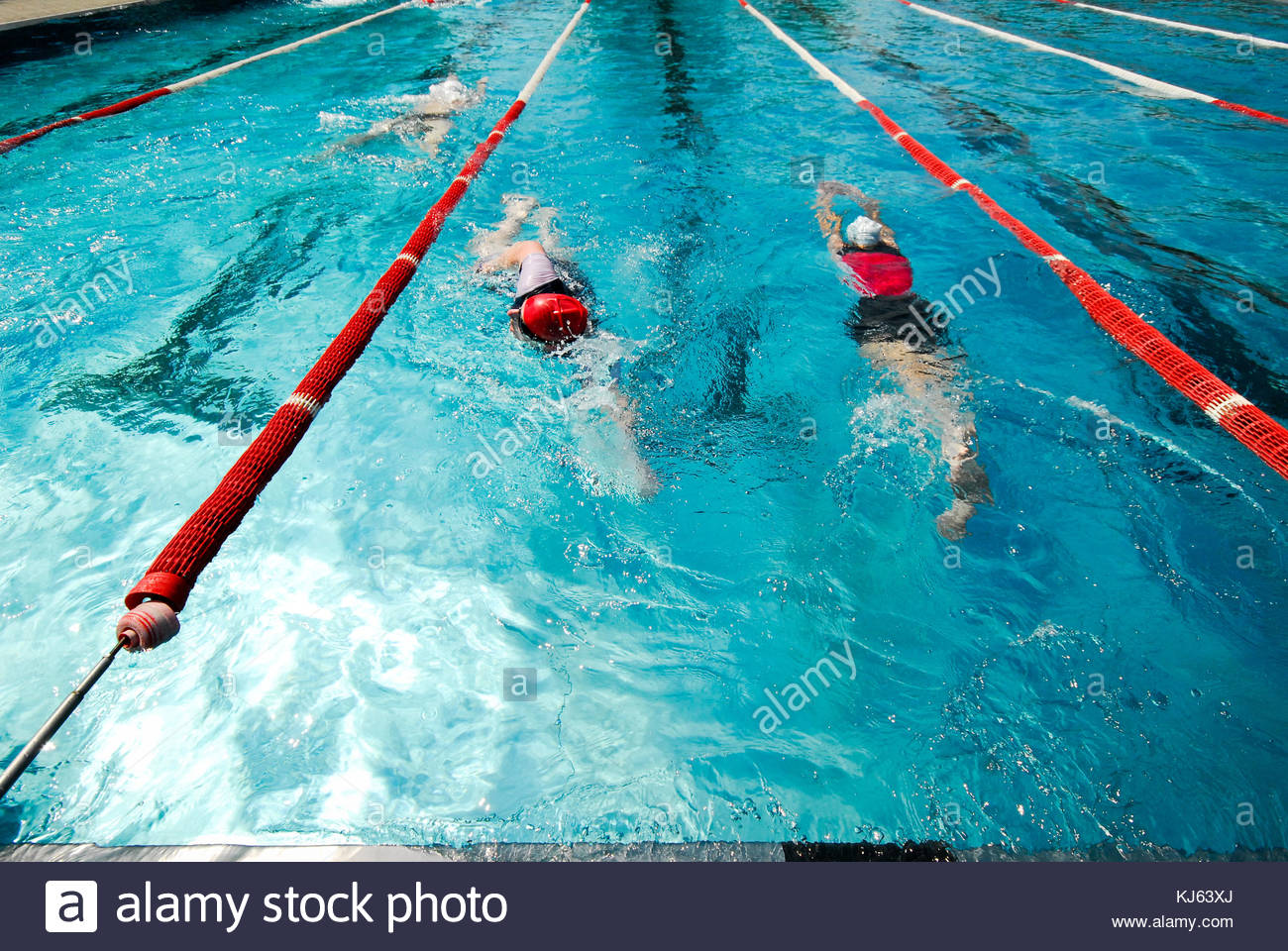 Swimmer move along in the lane - Stock Image