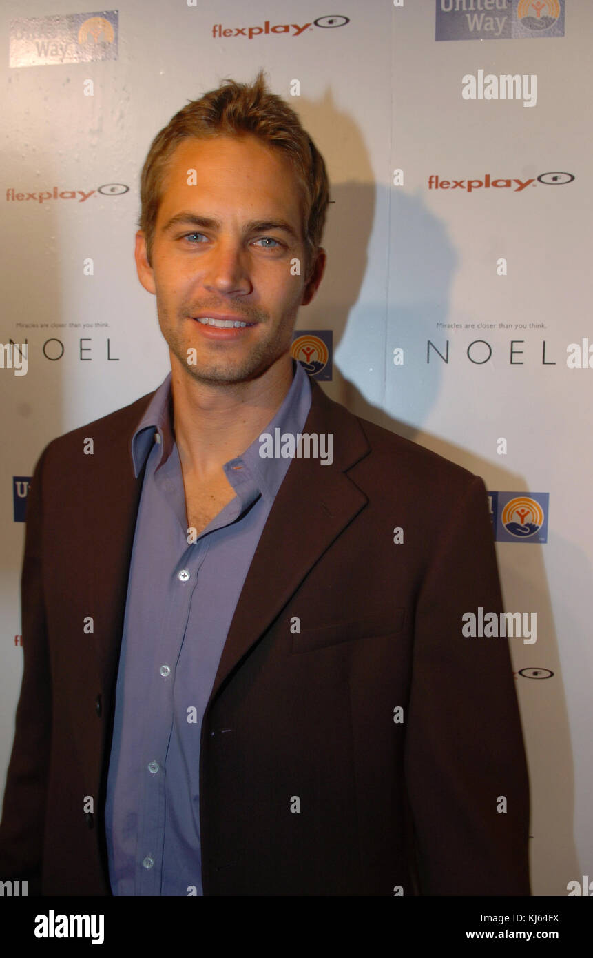 MIAMI, FL - NOVEMBER 30: Actor Paul Walker, who shot to fame as star of the high-octane street racing franchise Stock Photo