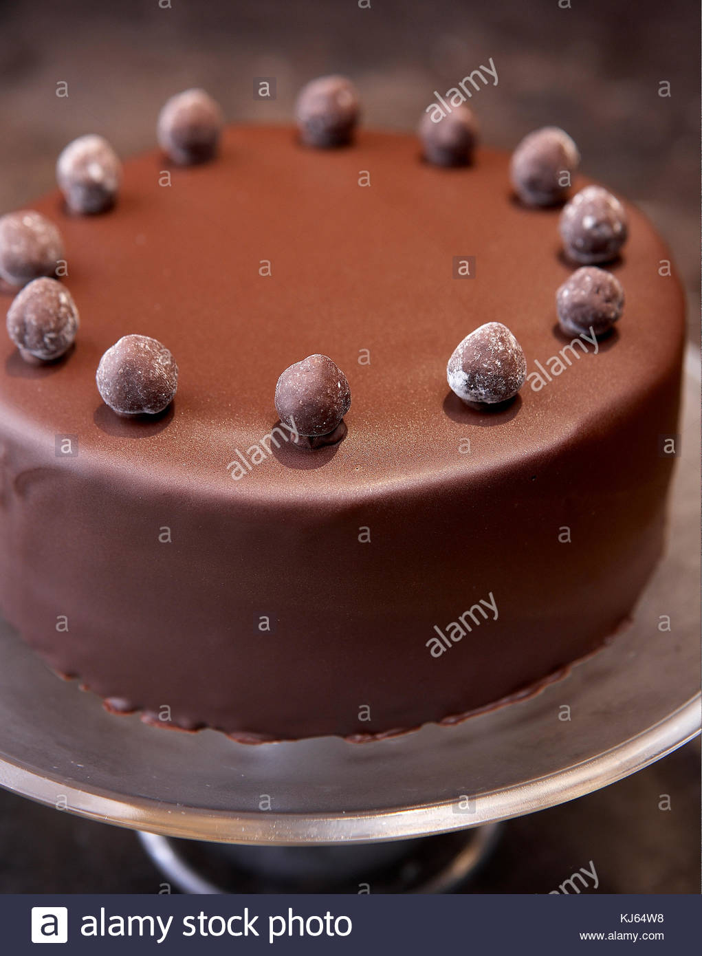 Dessert cake chocolate - Stock Image