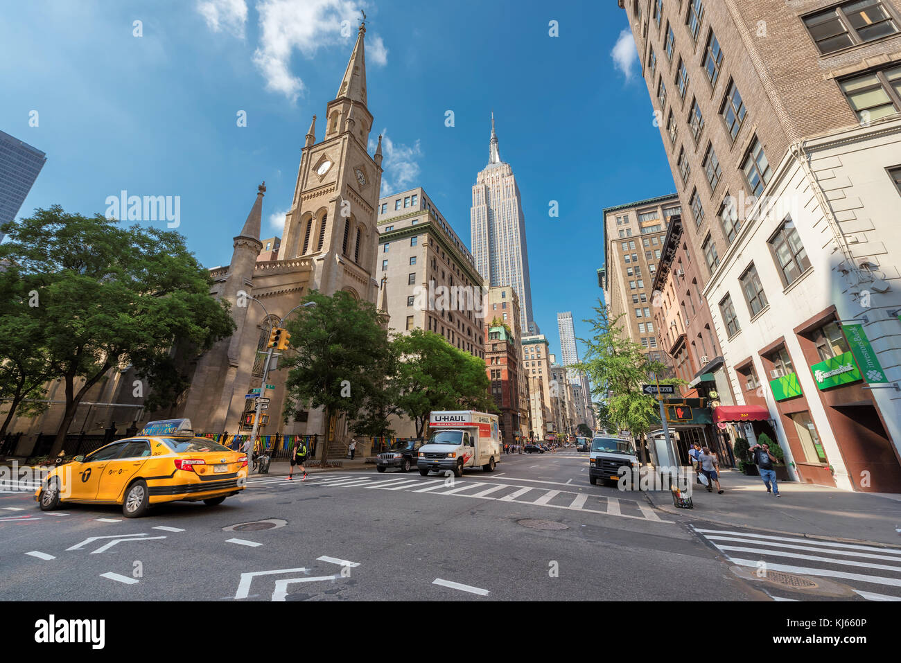 Fifth Avenue at summer day in New York City - Stock Image
