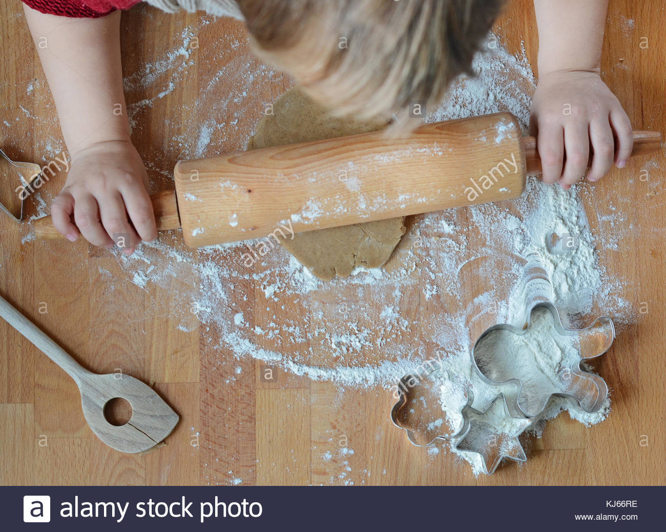 Child baking - Stock Image