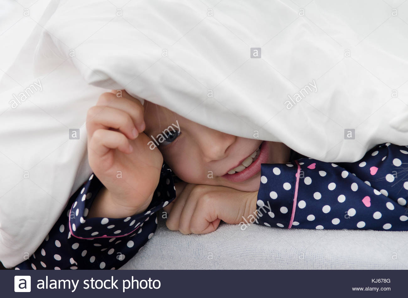 Play hide and seek - Stock Image
