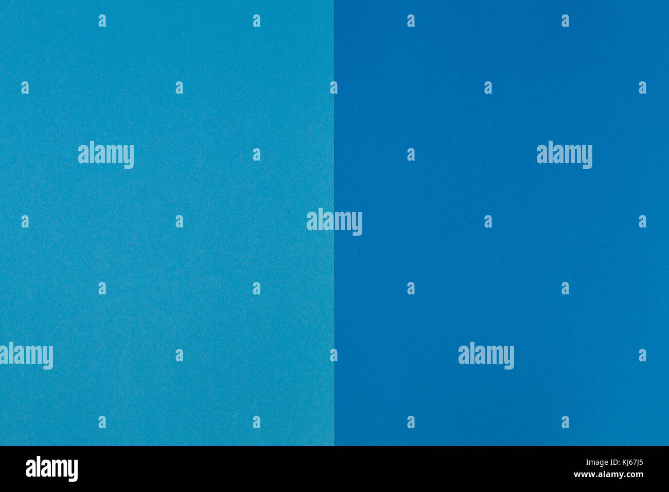 Two tone of blue colored paper background - Stock Image