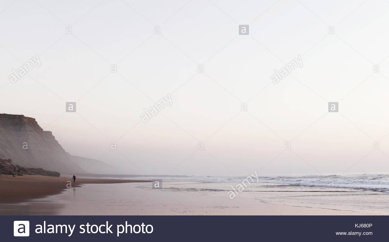 open beach scene - Stock Image