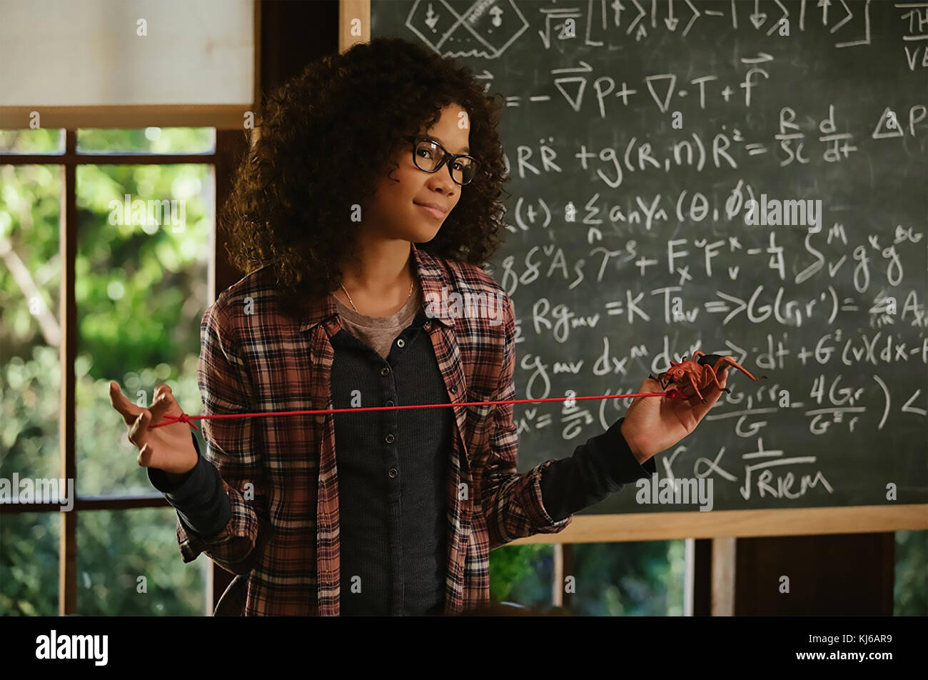 A WRINKLE IN TIME 2018 Walt Disney Pictures film with Storm Reid - Stock Image