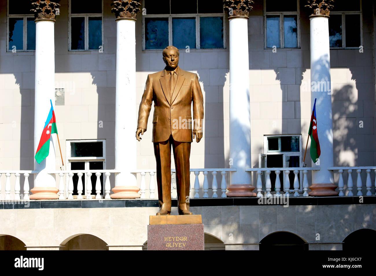 Heydar Aliyev Monument  in Ivanovka village of Azerbaijan Azerbaijan - Stock Image