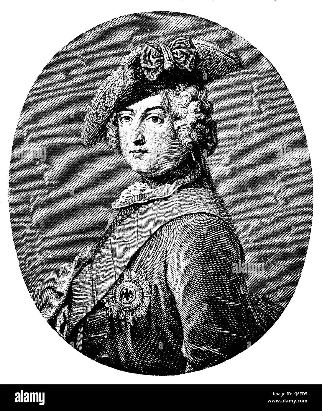 Frederick the Great (Friedrich der Große) - Stock Image