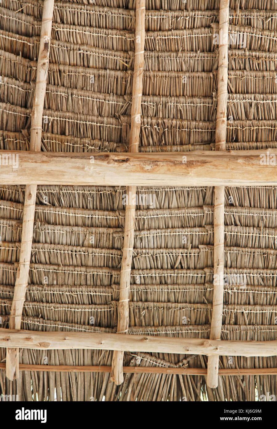 Thatched roofing, Unguja Island, Zanzibar, Tanzania - Stock Image
