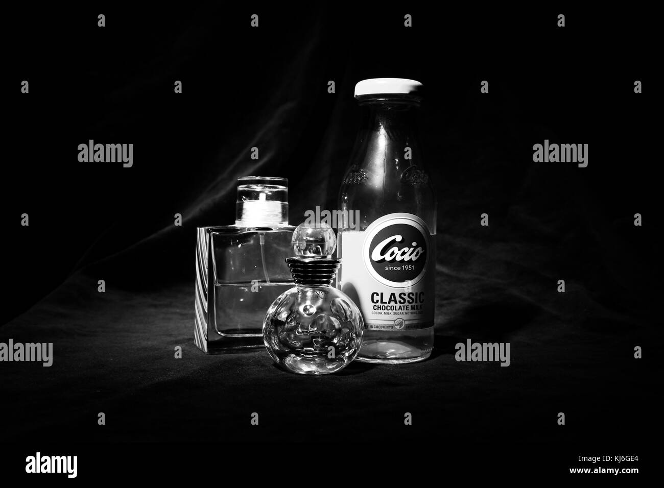 Glass Bottles and Perfume - Stock Image