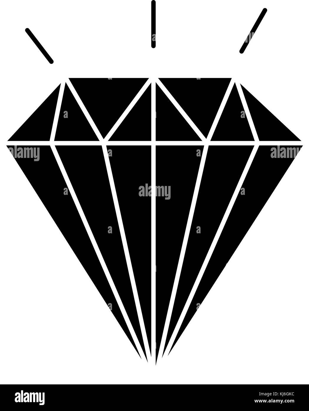 diamond elegant isolated icon - Stock Image