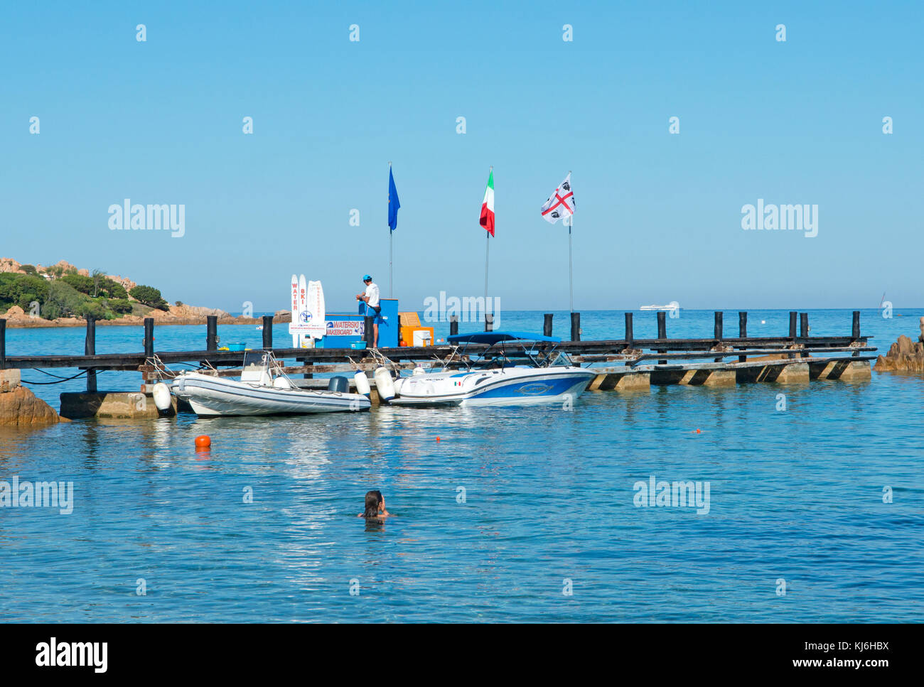 Foreshortening, Romazzino, Costa smeralda, Sardinia, Italy - Stock Image
