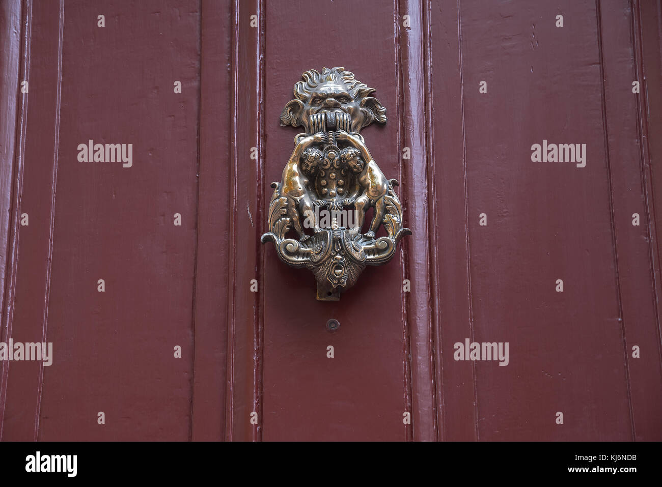 Antique door knob of ancient house, Philadelphia, Pennsylvania, USA, Philadelphia, Pennsylvania, USA - Stock Image
