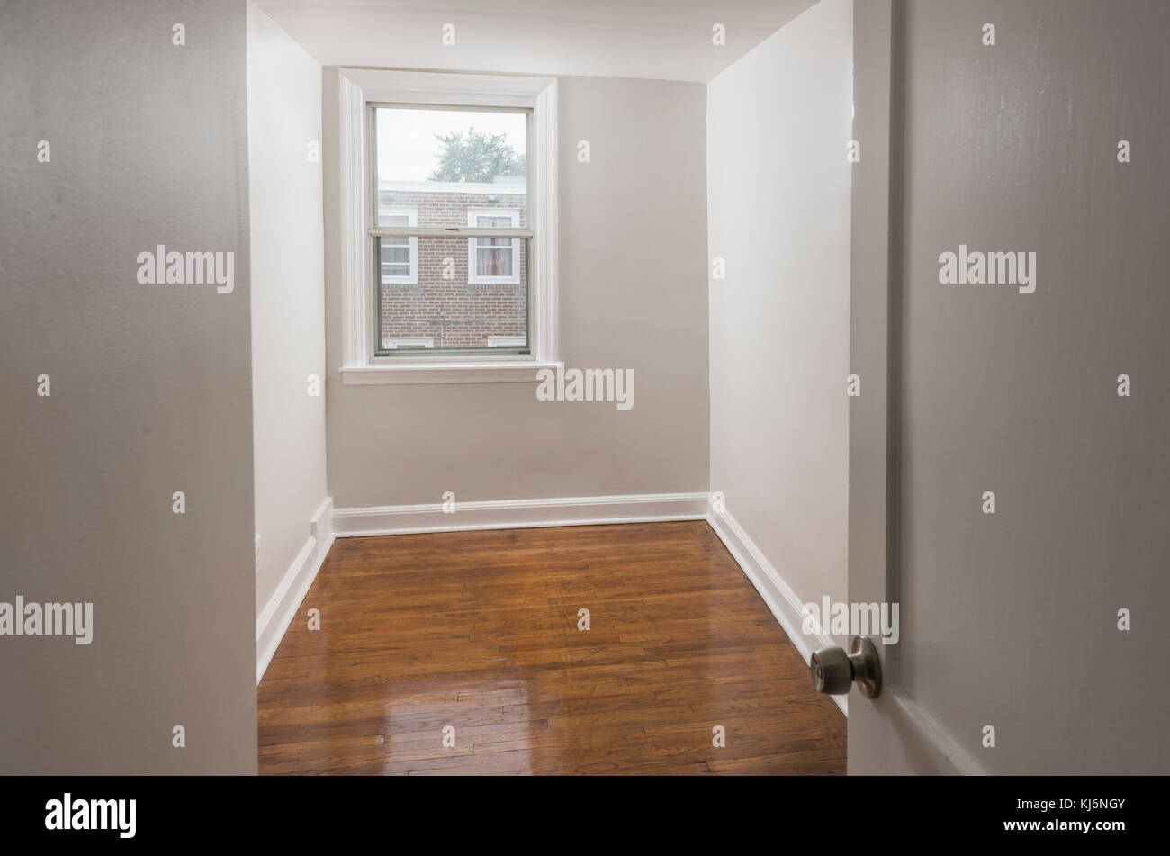 Empty Vacant Small Bedroom In Residential Home Stock Photo
