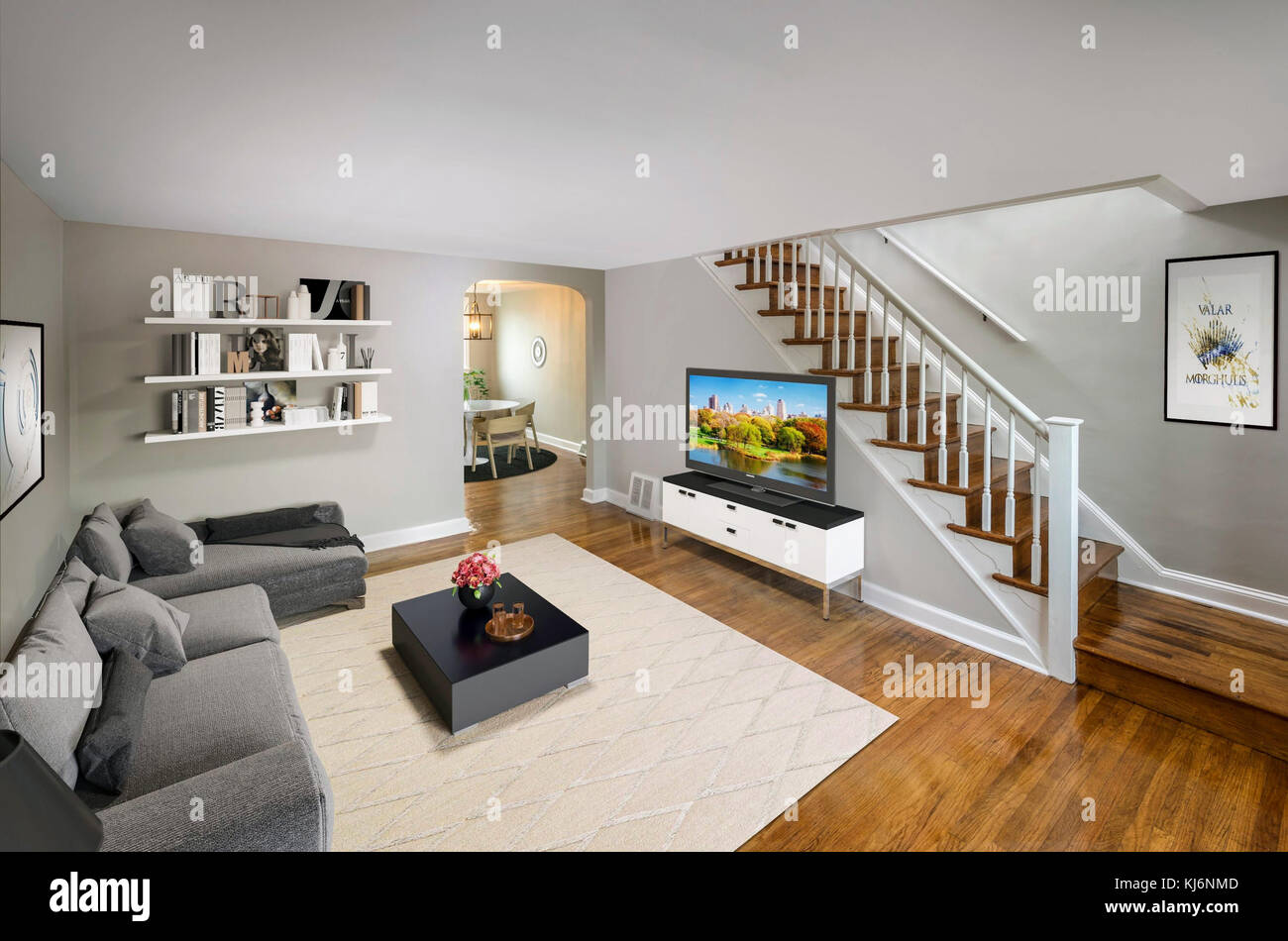 stairs american home flat apartment stock photos stairs american