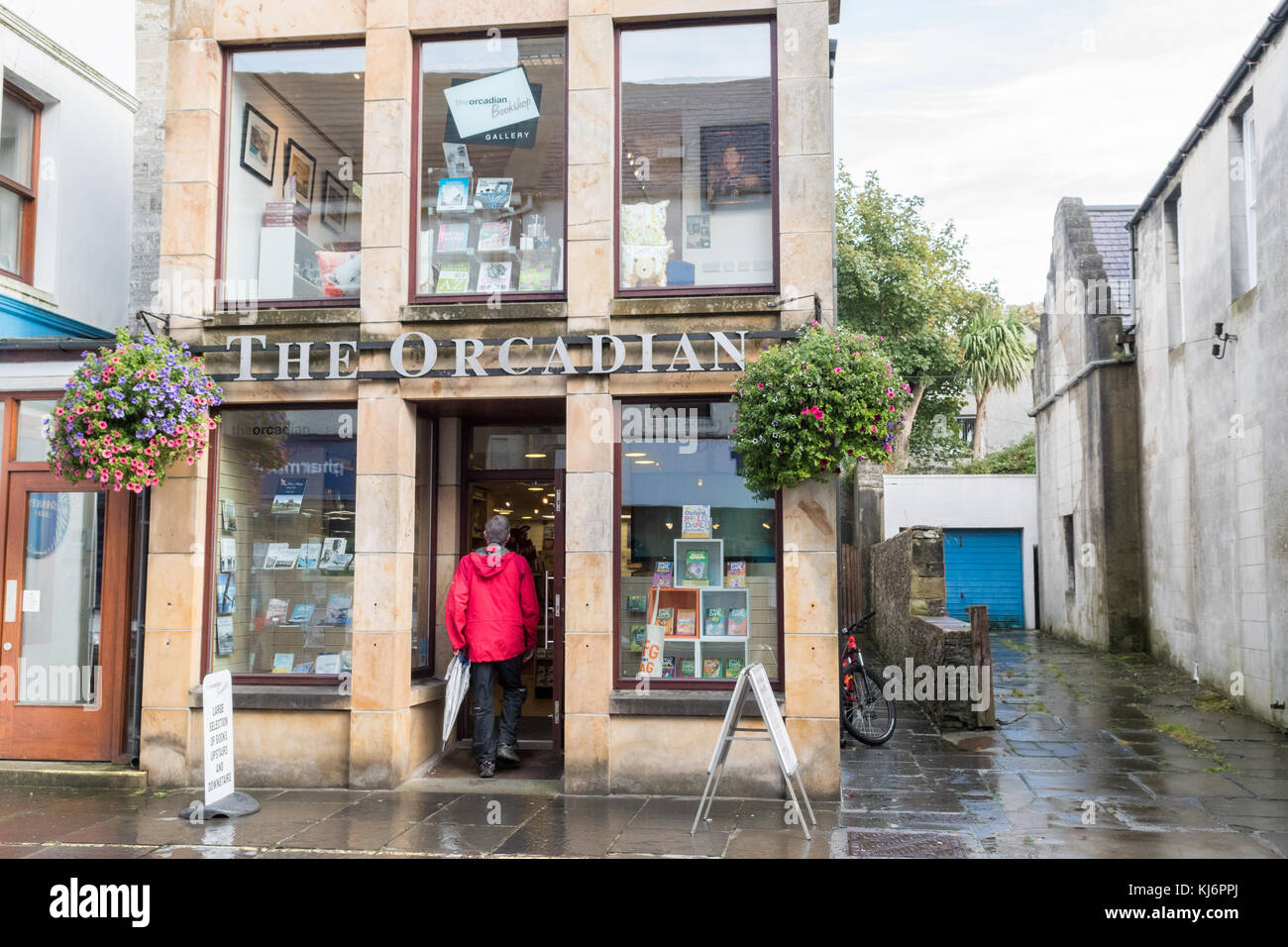 The Orcadian Bookshop, Kirkwall, Orkney Mainland, Scotland, UK - Stock Image
