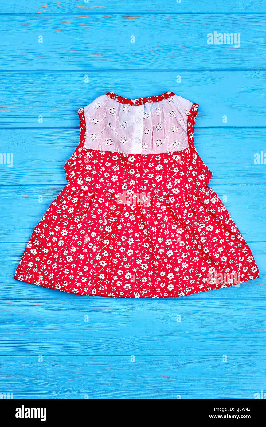 e248f532507f Beautiful vintage baby-girl dress. Natural childs red sleeveless dress on  sale. Little girls summer clothing