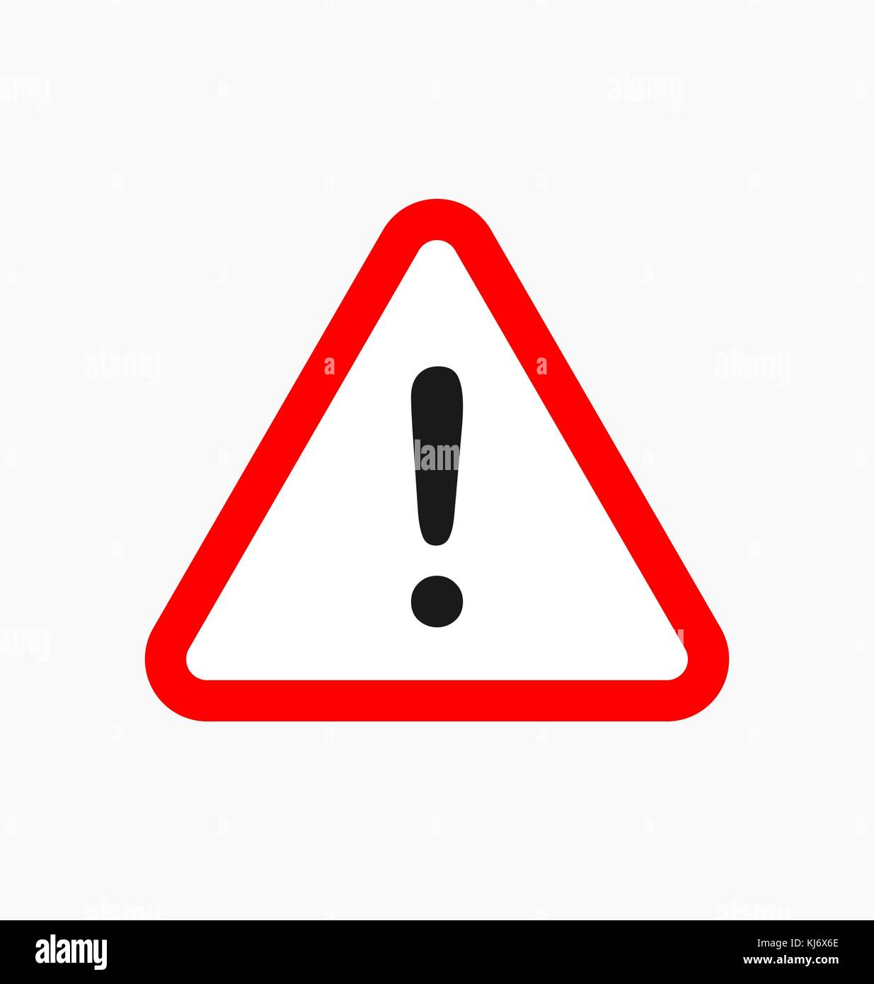 Warning icon / sign in flat style isolated. Caution symbol for your web site, logo, app, UI design. Vector illustration. - Stock Image