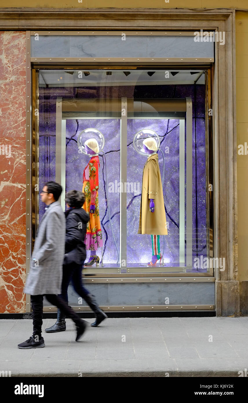 gucci fashion store, florence, italy - Stock Image