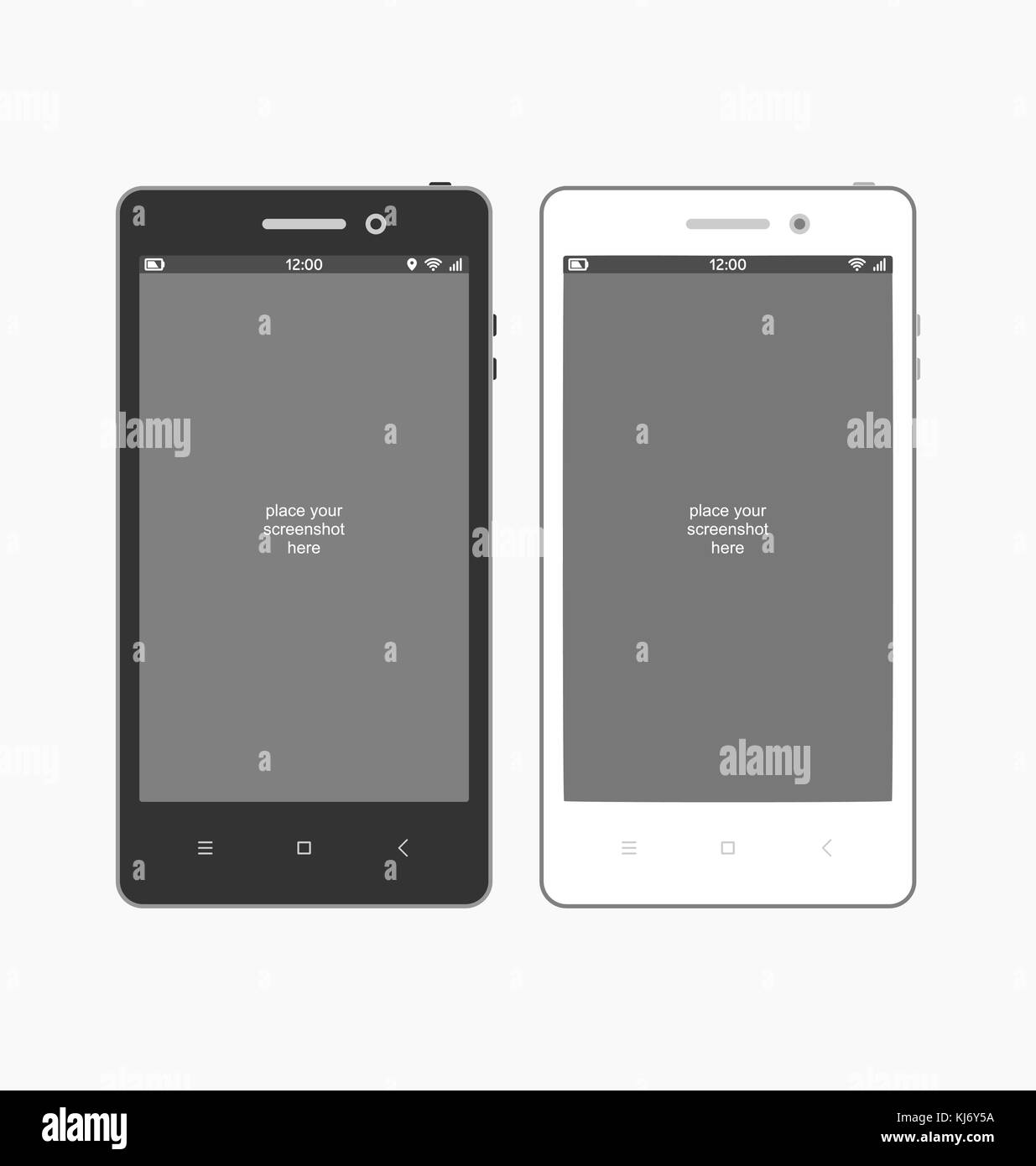Smartphone template for screenshot . Flat vector illustration. - Stock Image