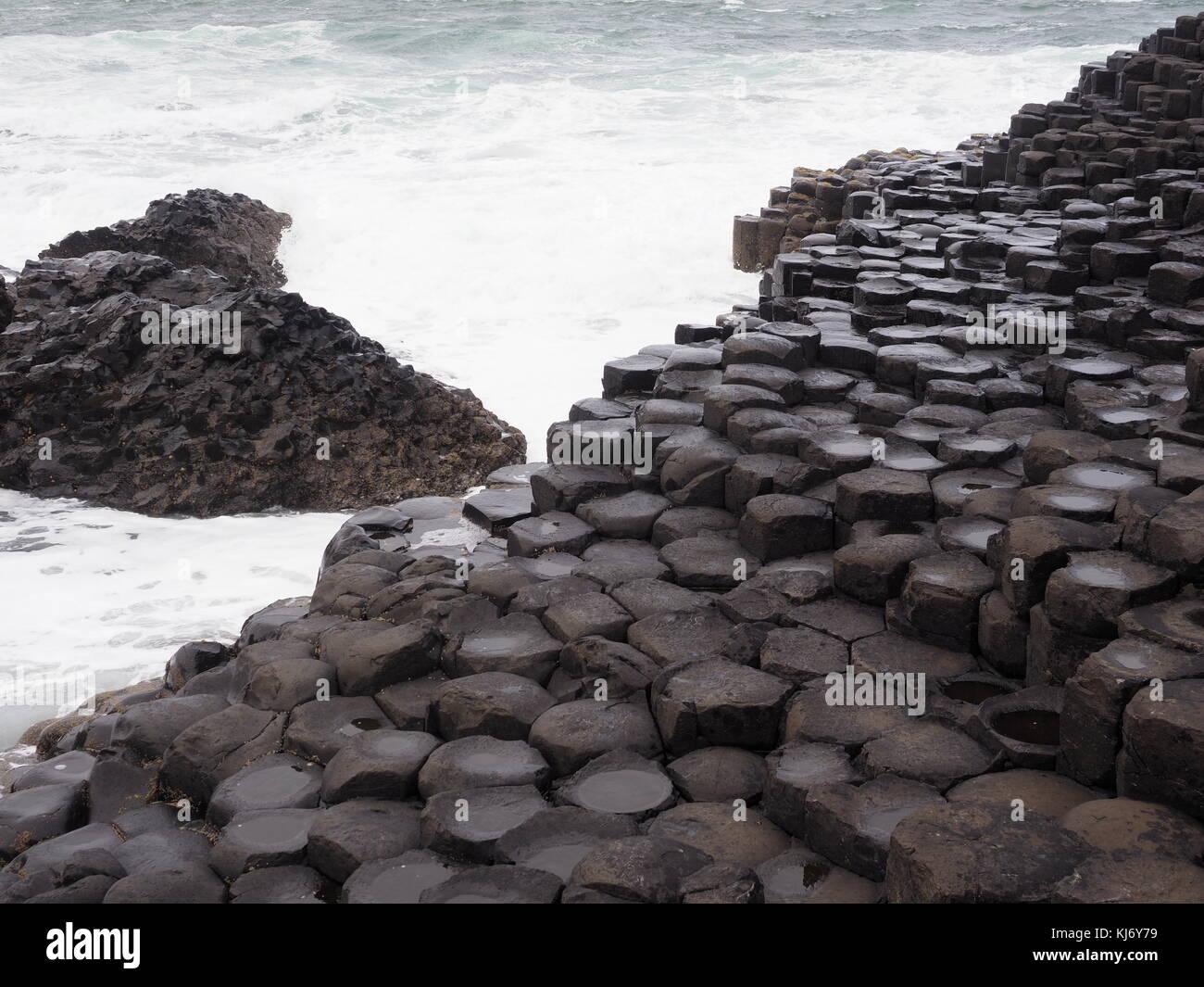 The amazing Giants Causeway, County Antrim Northern Ireland UK - Stock Image