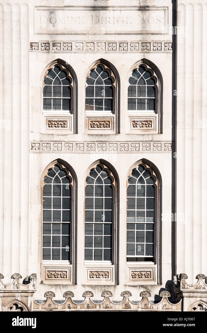 The guildhall (town hall) of the Cty of London corporation, in London, England. - Stock Image