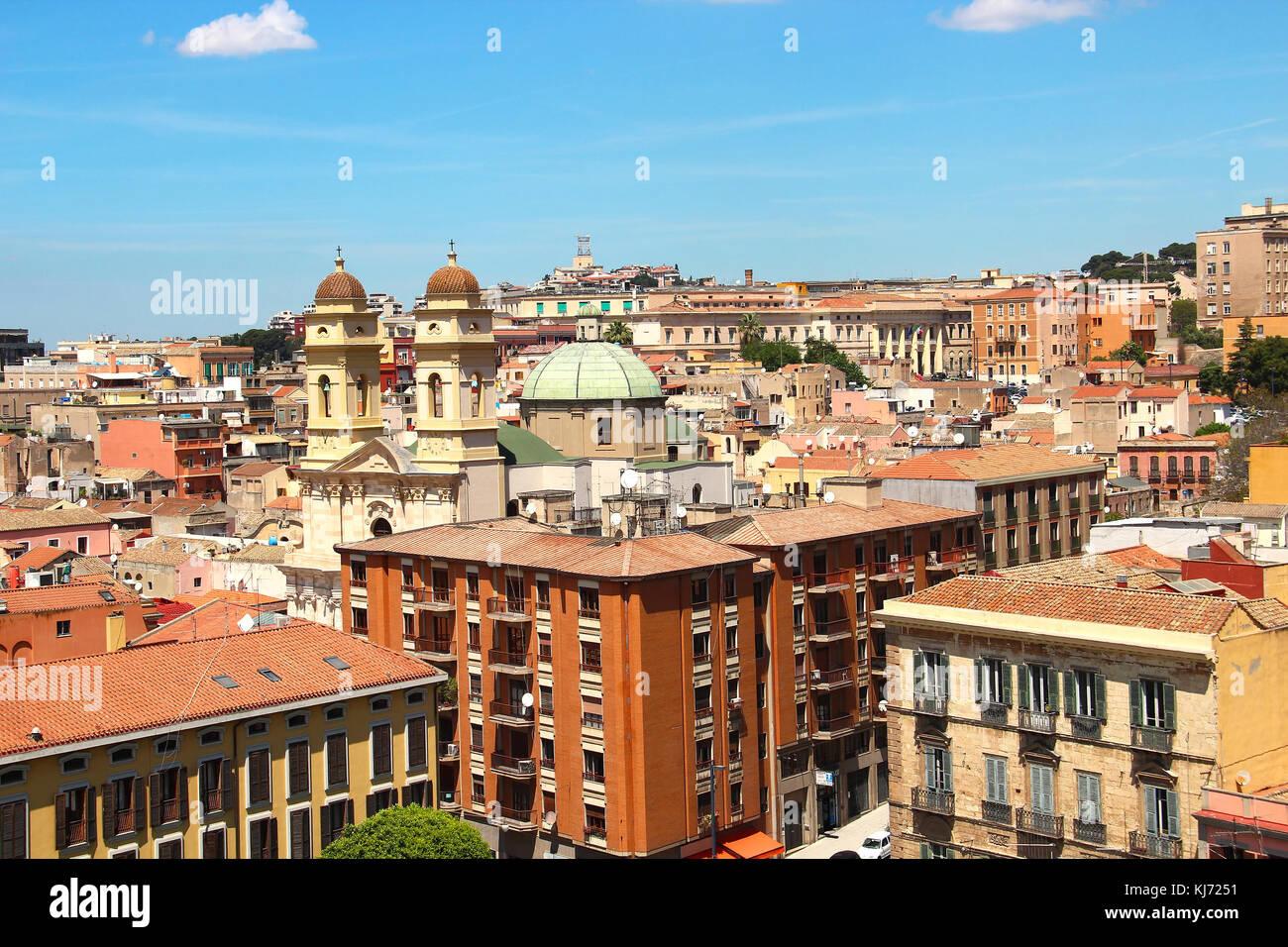 Cityscape of Cagliari, Sardinia, Italy - Stock Image