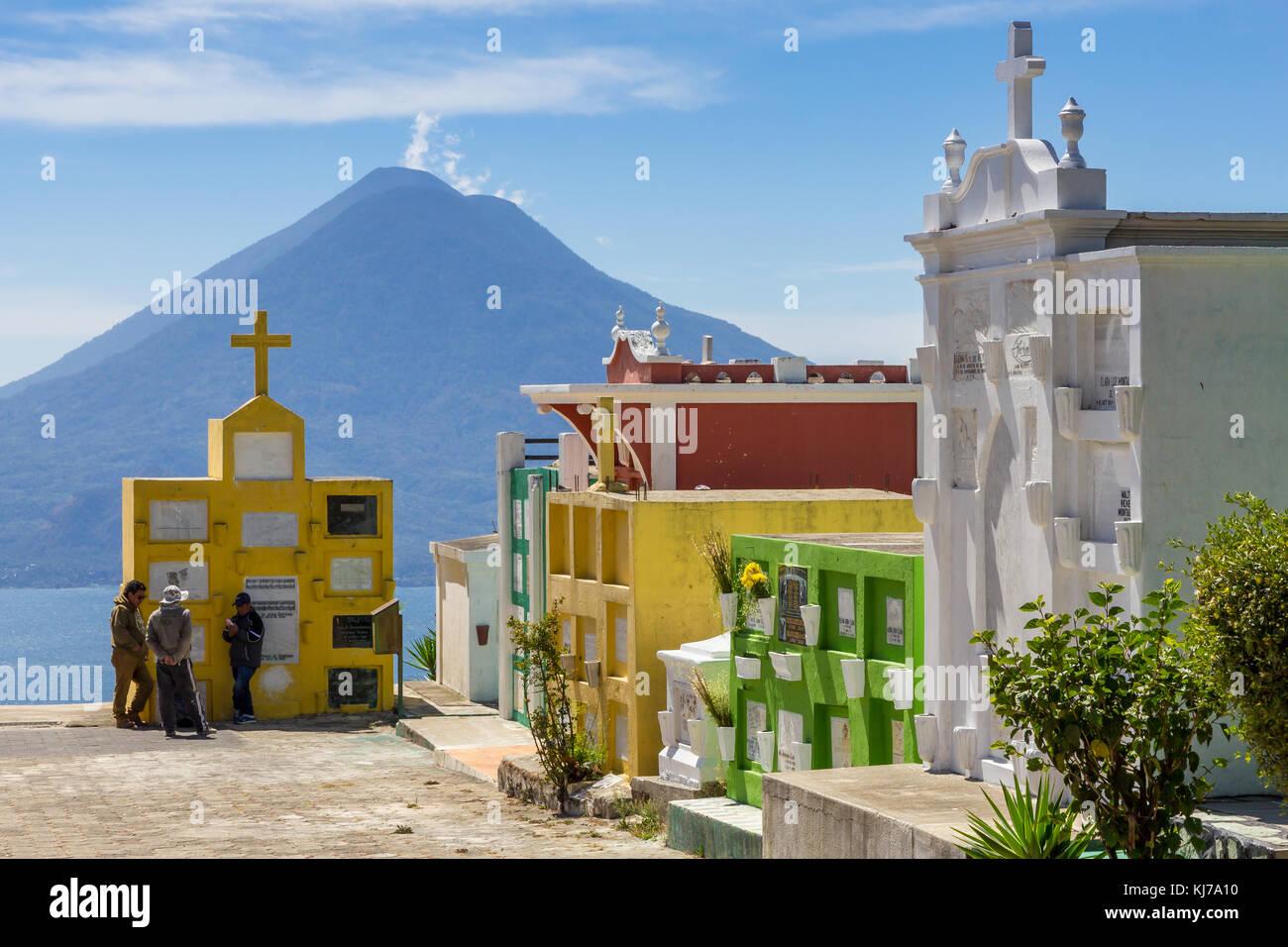 Colourful cemetery   Sololá   Guatemala - Stock Image