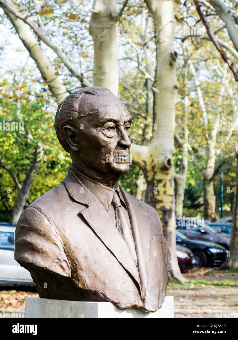 Adenauer Statue, City Park, Budapest - Stock Image