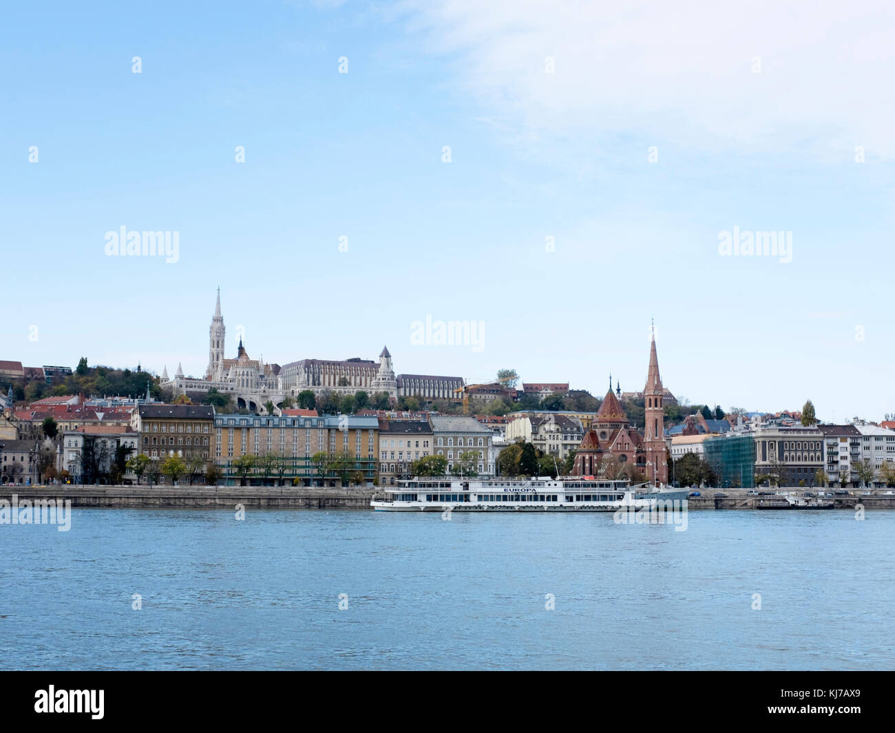 Castle Hill with Fisherman's Bastion, Budapest - Stock Image