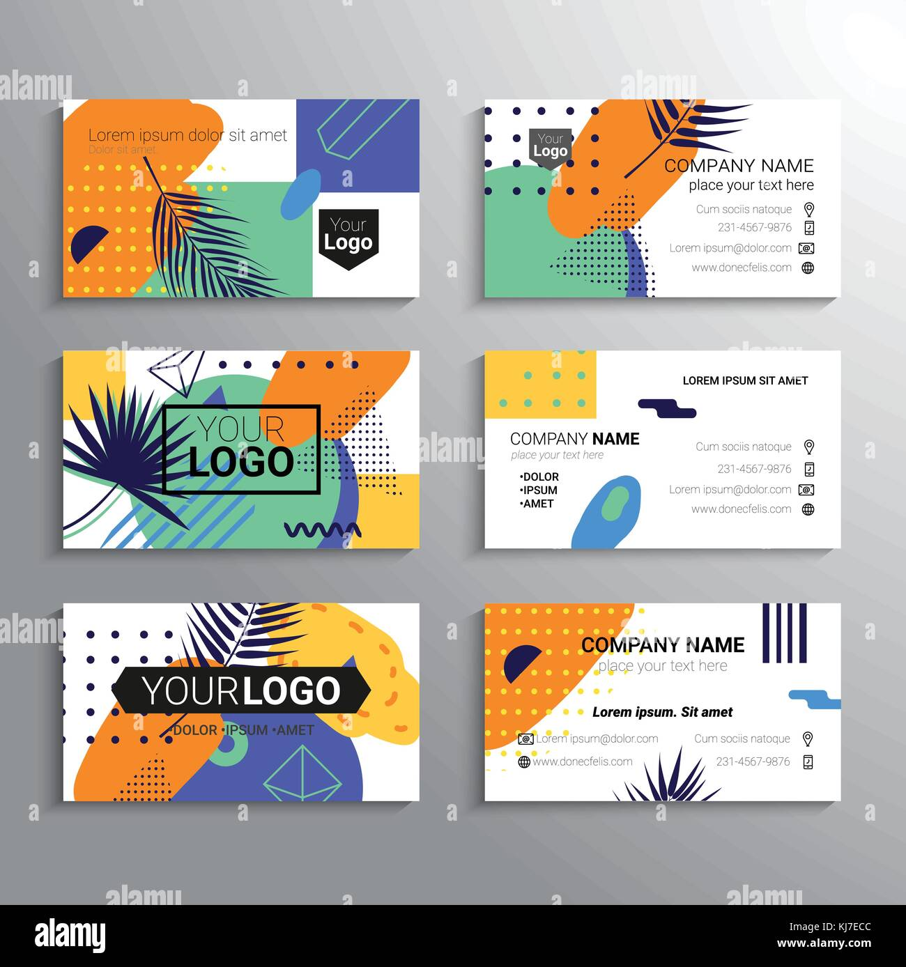 Set Of Business Cards