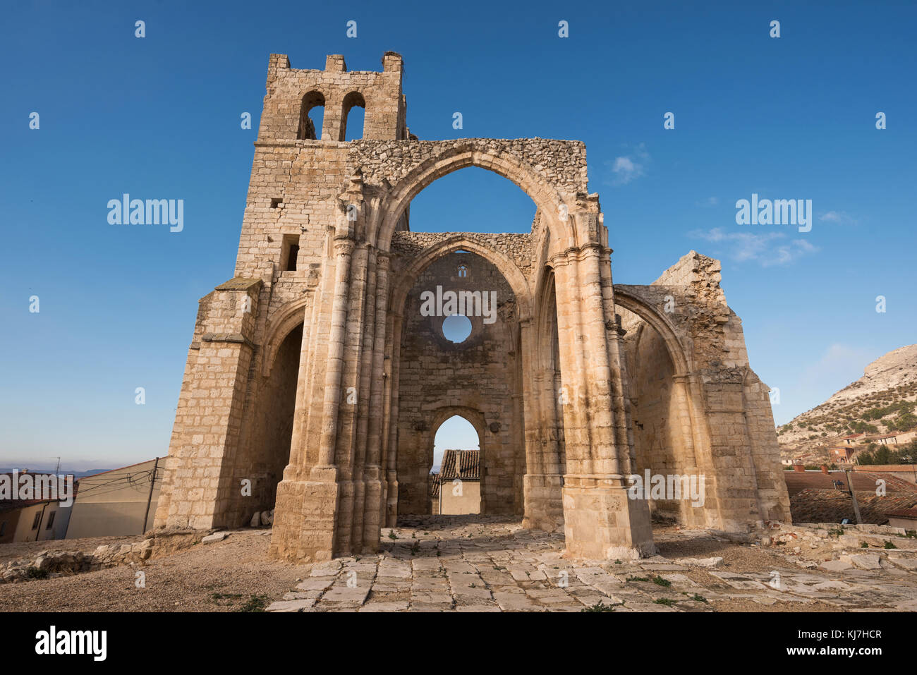 Ruins of abandoned church Santa Eulalia in Palenzuela, Palencia province, Spain. - Stock Image