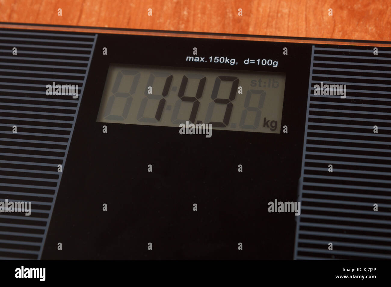 digital weight display - Stock Image
