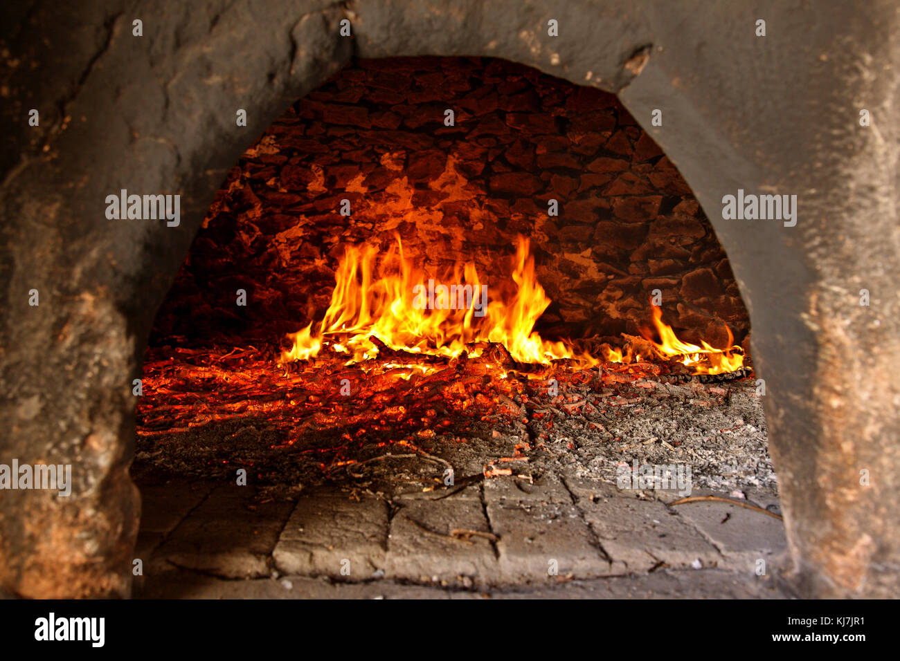 Traditional oven at Toplou monastery, close to famous Vai beach, Sitia, Lasithi prefecture, Crete, Greece - Stock Image