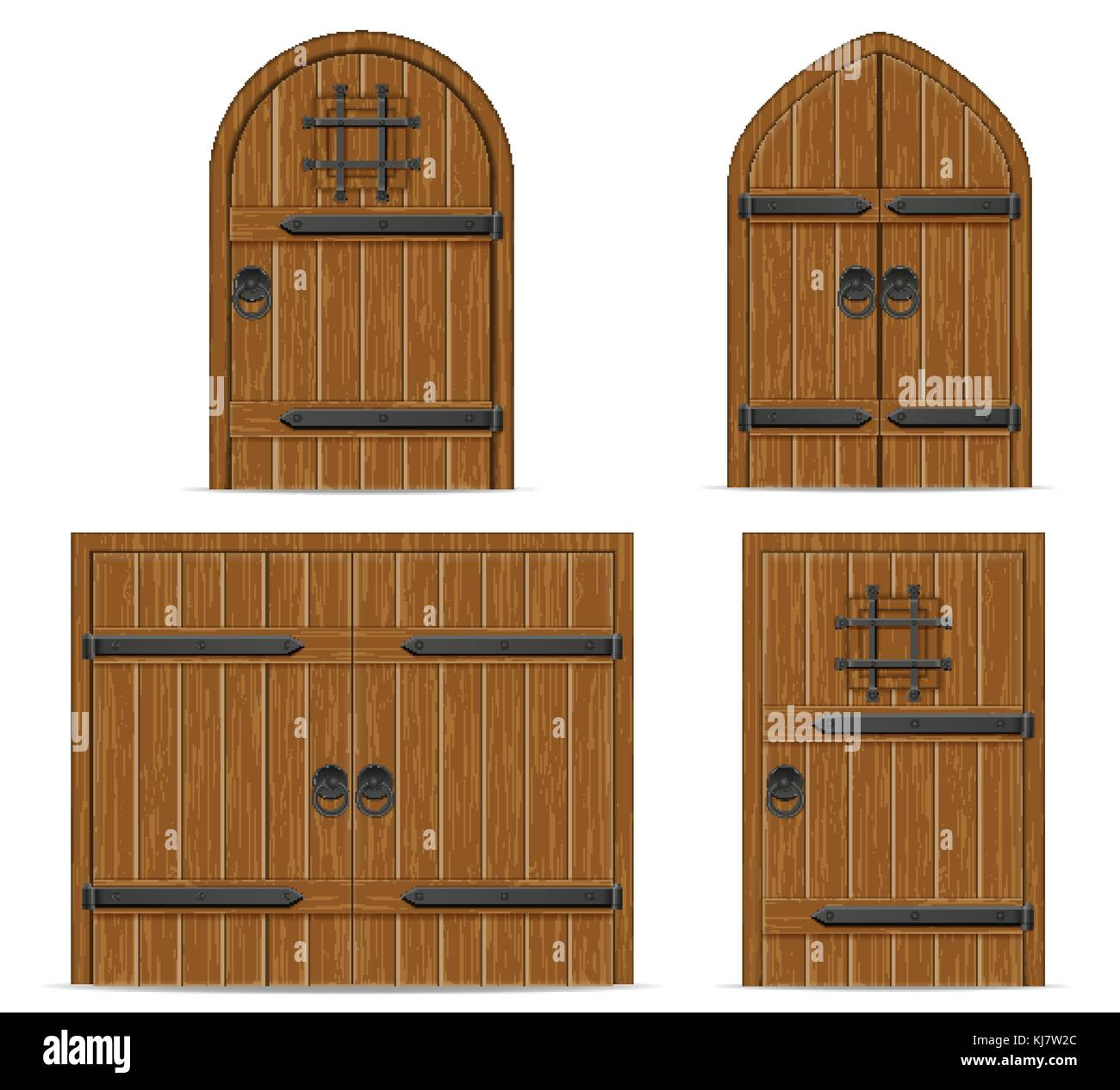 old wooden door vector illustration isolated on white background - Stock Vector  sc 1 st  Alamy & Metal Castle Door Stock Vector Images - Alamy