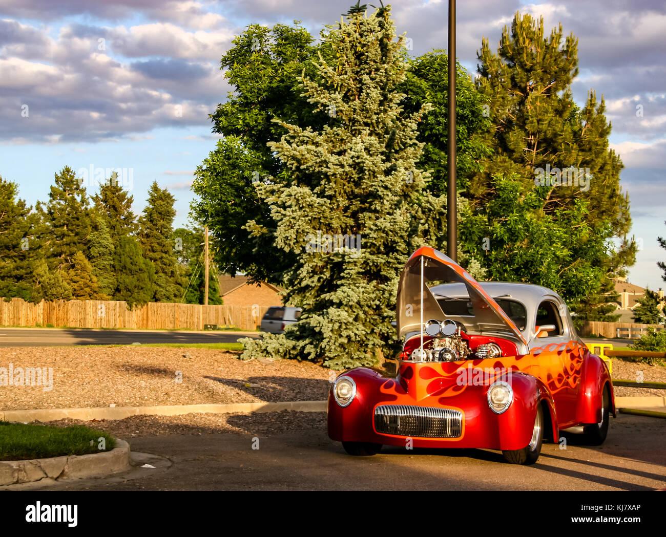 Classic Cars Denver >> Classic Car At Burger King Classic Car Show In Denver Stock