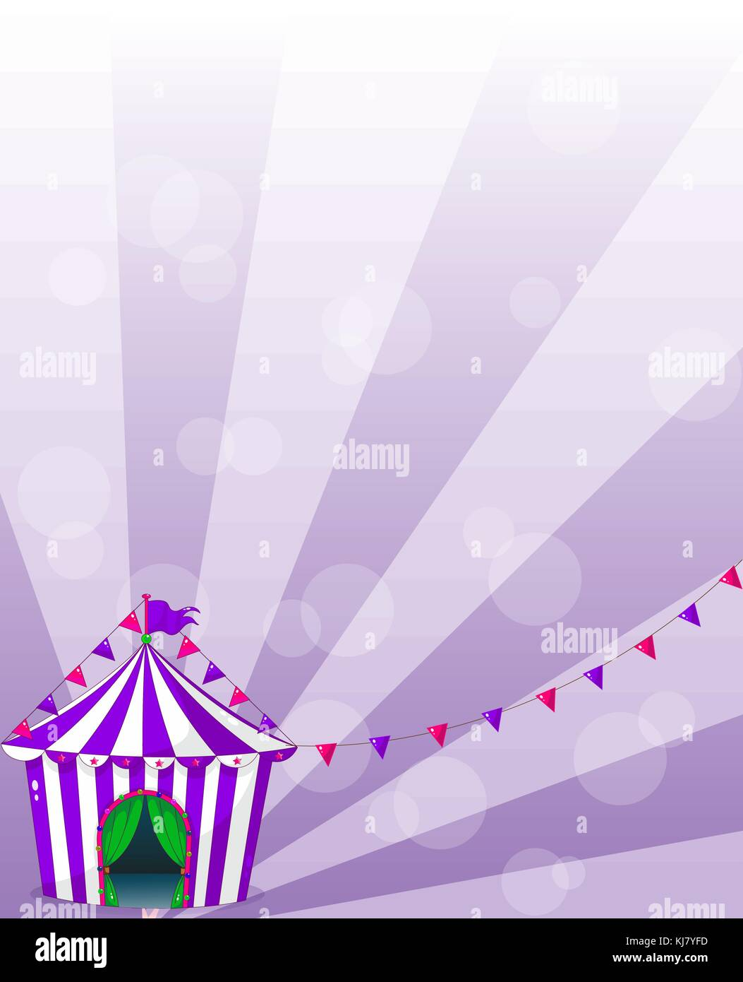 Illustration of a violet circus tent - Stock Vector