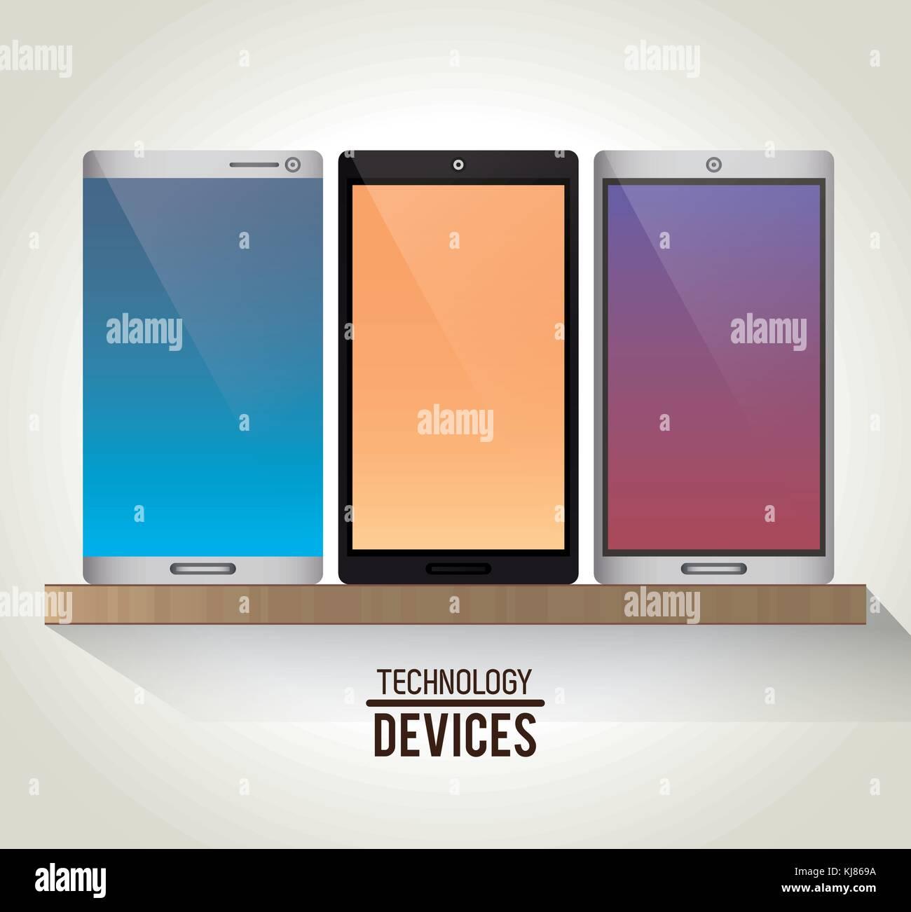 Set of smartphones - Stock Image