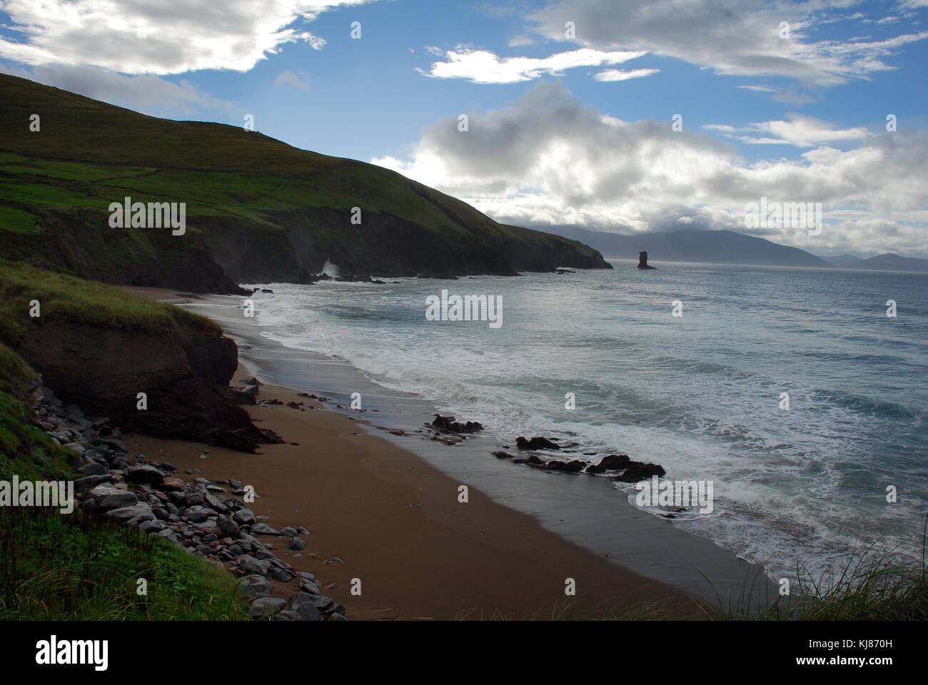 Rocky coastline near Dingle, Ireland - Stock Image