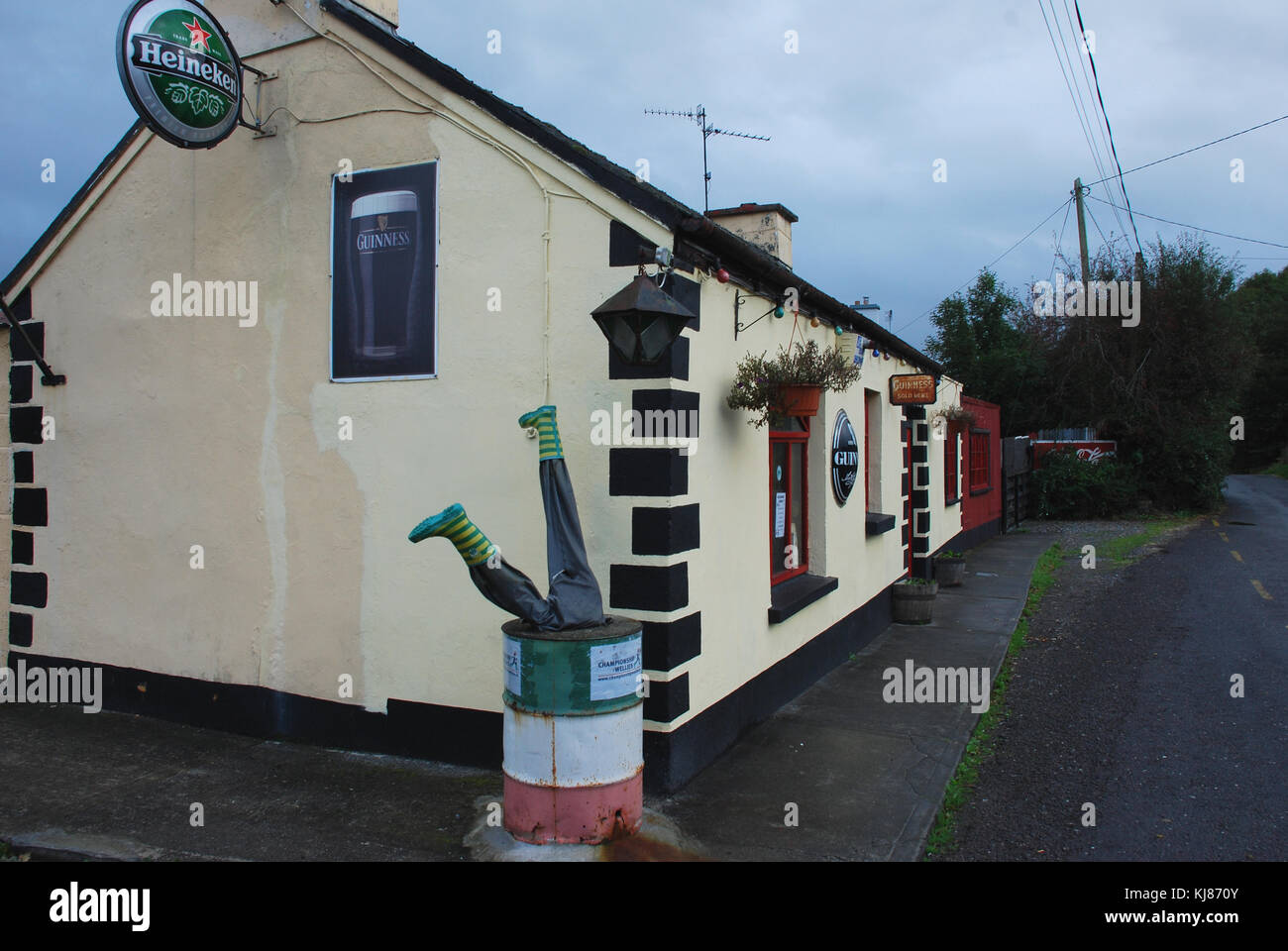 Irish pub near Cork - Stock Image
