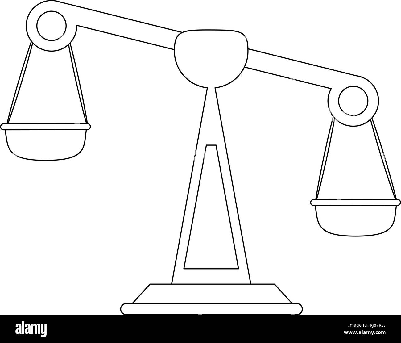 Balance justice symbol - Stock Image