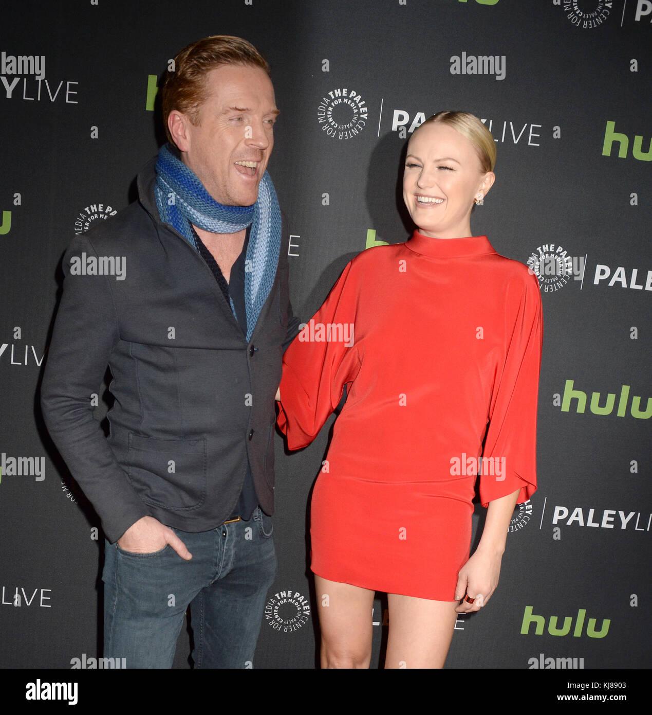 NEW YORK, NY - DECEMBER 05: Damian Lewis, Malin Akerman  attends the Paley Live: Sneak Peek at Billions Season Two, - Stock Image