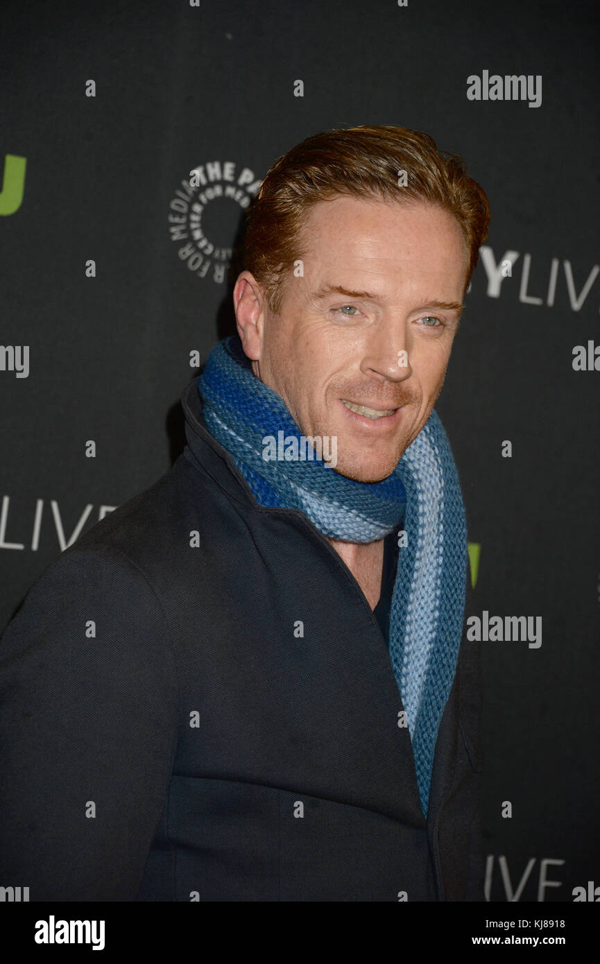NEW YORK, NY - DECEMBER 05: Damian Lewis  attends the Paley Live: Sneak Peek at Billions Season Two, Plus Discussion - Stock Image