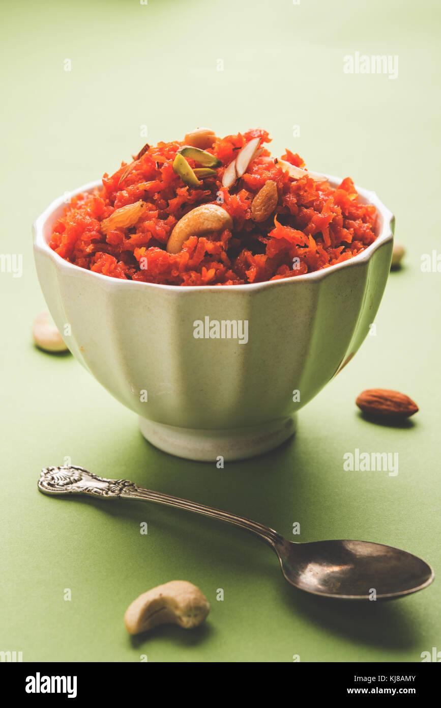 Carrot Halwa or Gajar Halwa - Stock Image