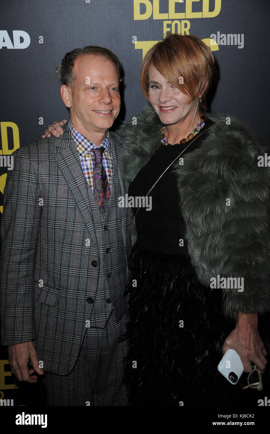 NEW YORK, NY - NOVEMBER 14: Bruce Cohen, Shawn Colvin attends as Open Road with Men's Fitness host the premiere - Stock Image