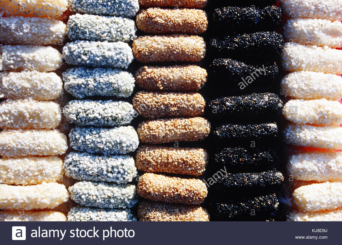 Korean traditional sweets and cookies - Stock Image