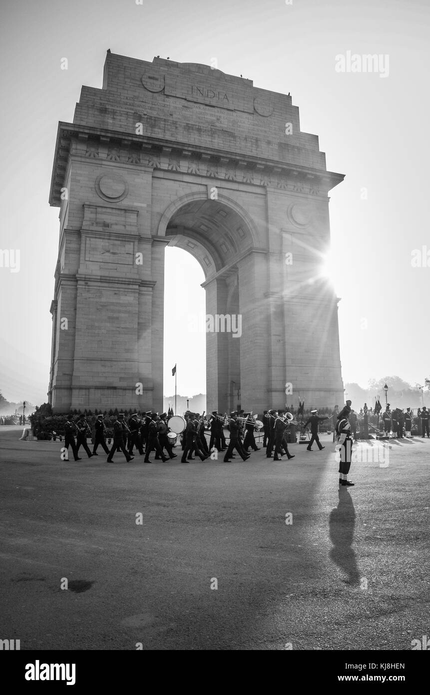 A view of India Gate at Rajpath, in New Delhi, India, - Stock Image