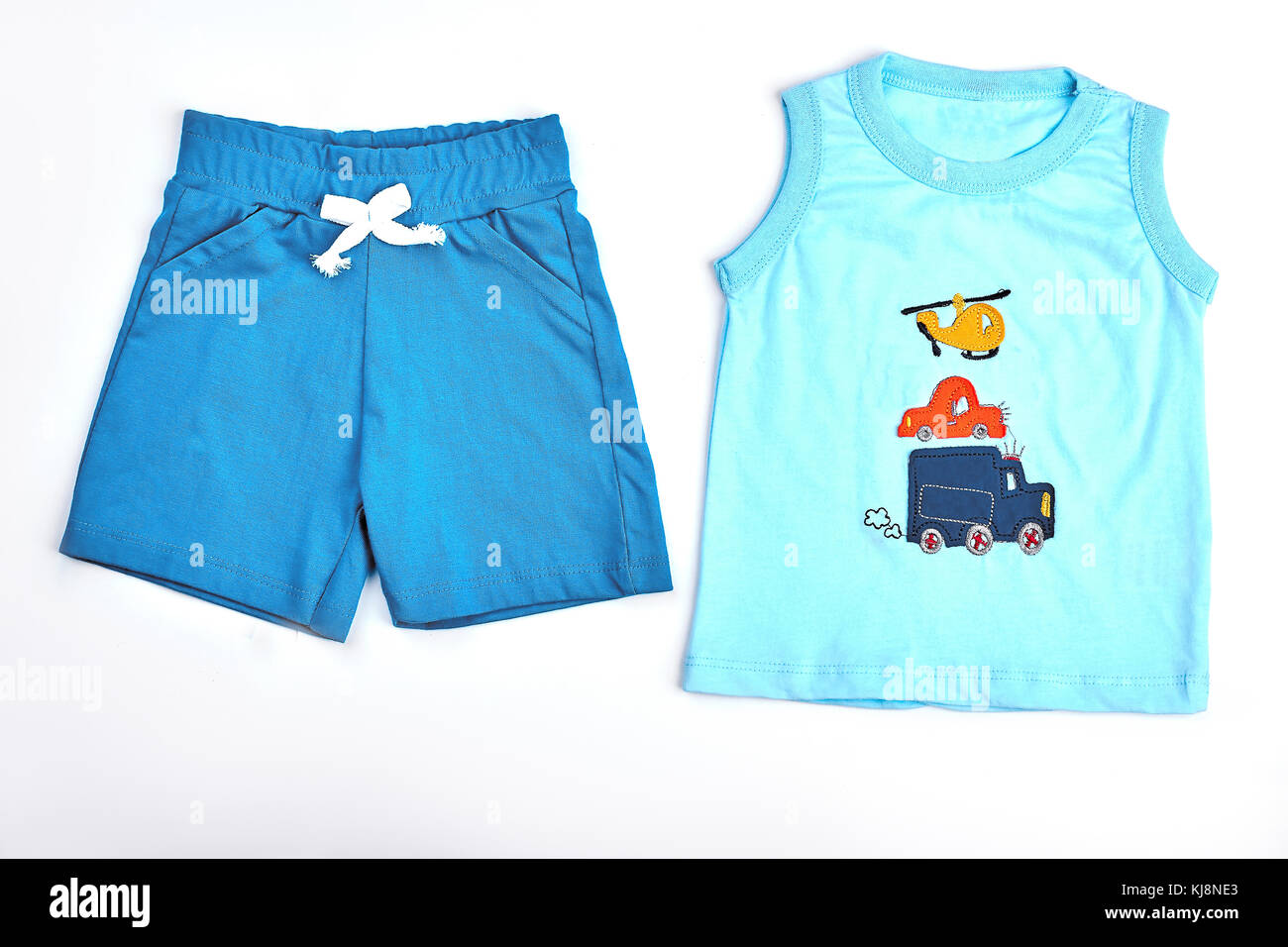 f86b319b0 Baby-boy cotton shorts and t-shirt. Set of natural cotton apparel ...