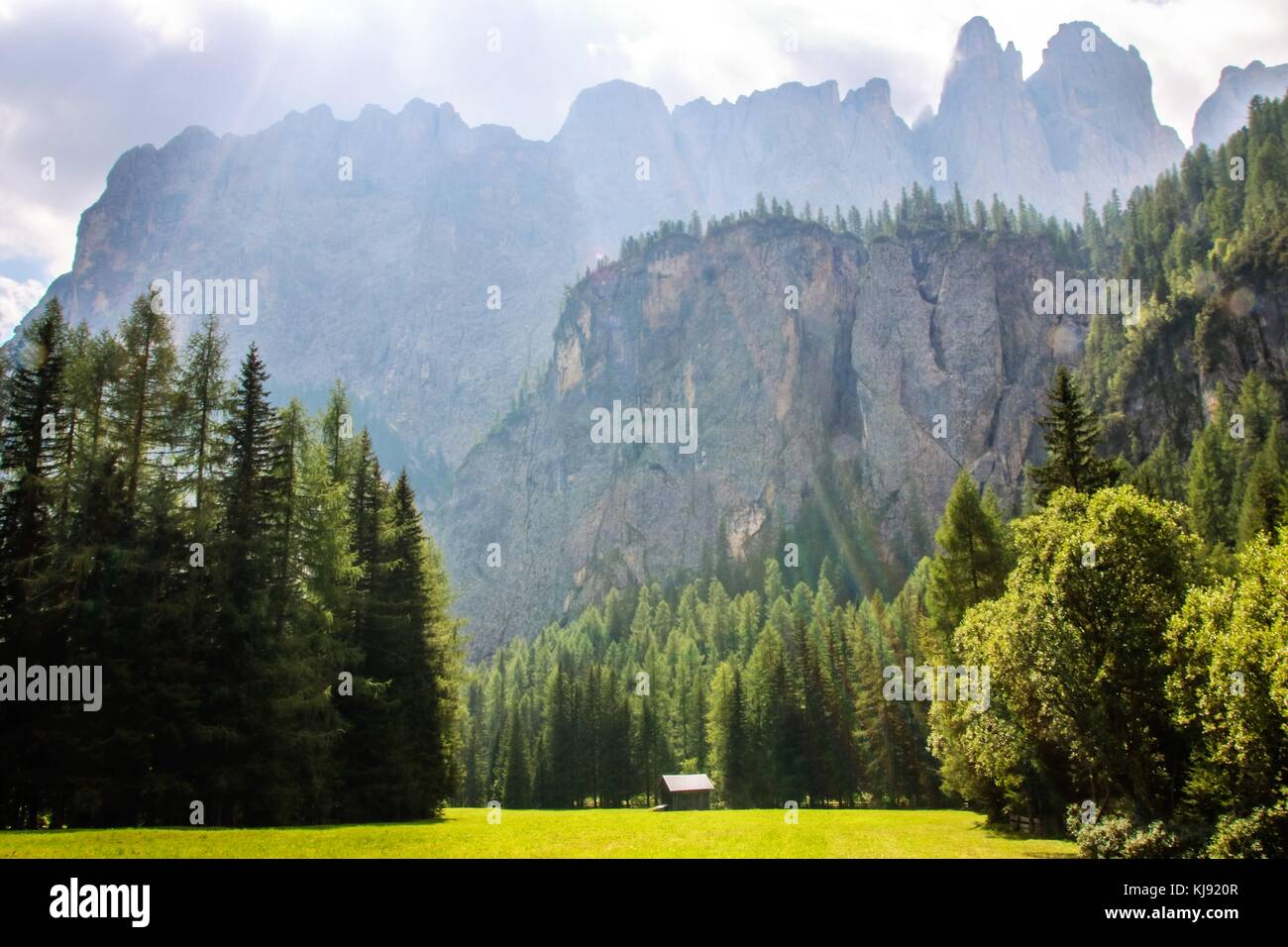 Landscape of Dolomites mountain in Sud Tyrol, Italy Stock Photo