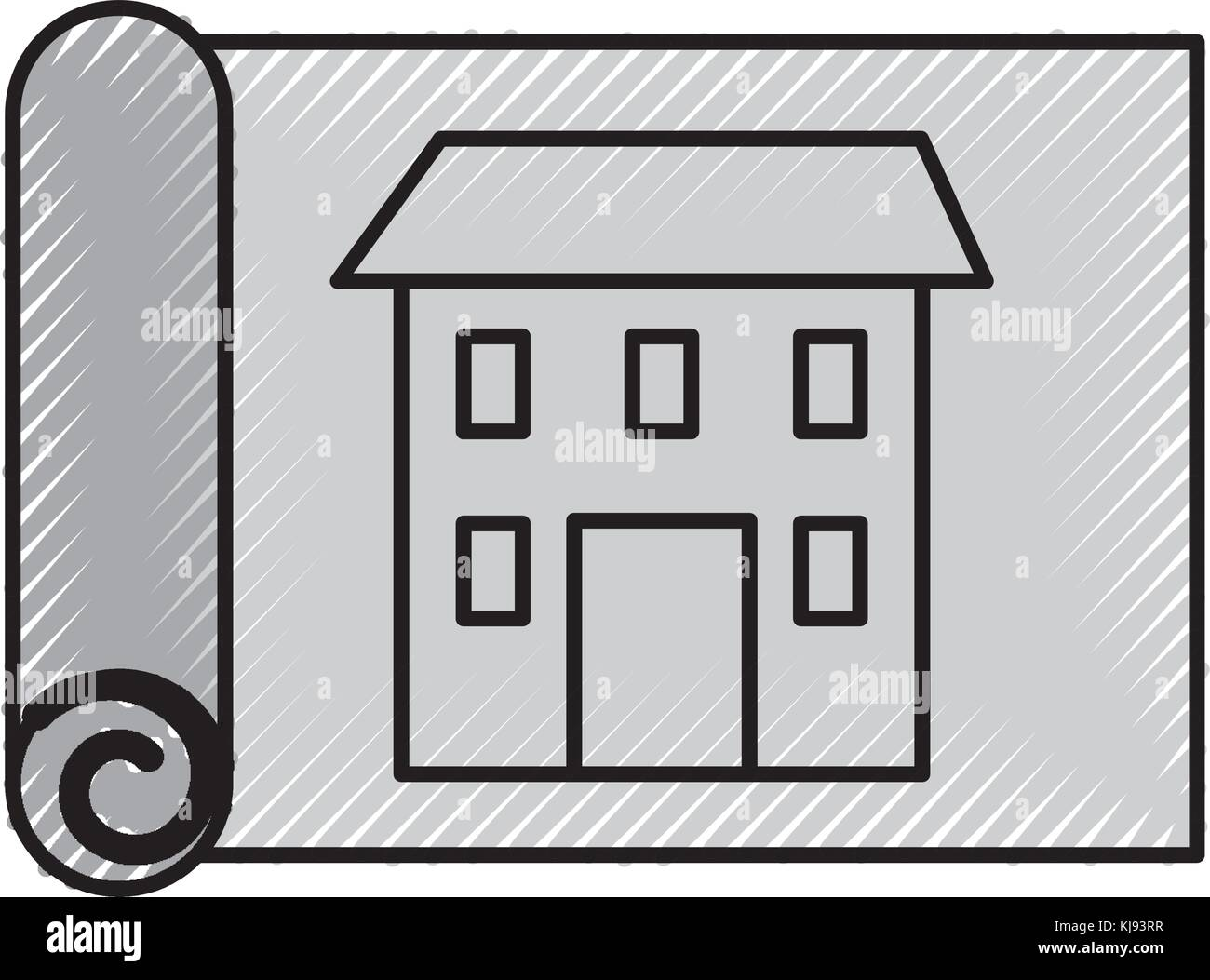 Construction architecture blueprint house paper stock vector art construction architecture blueprint house paper malvernweather Image collections