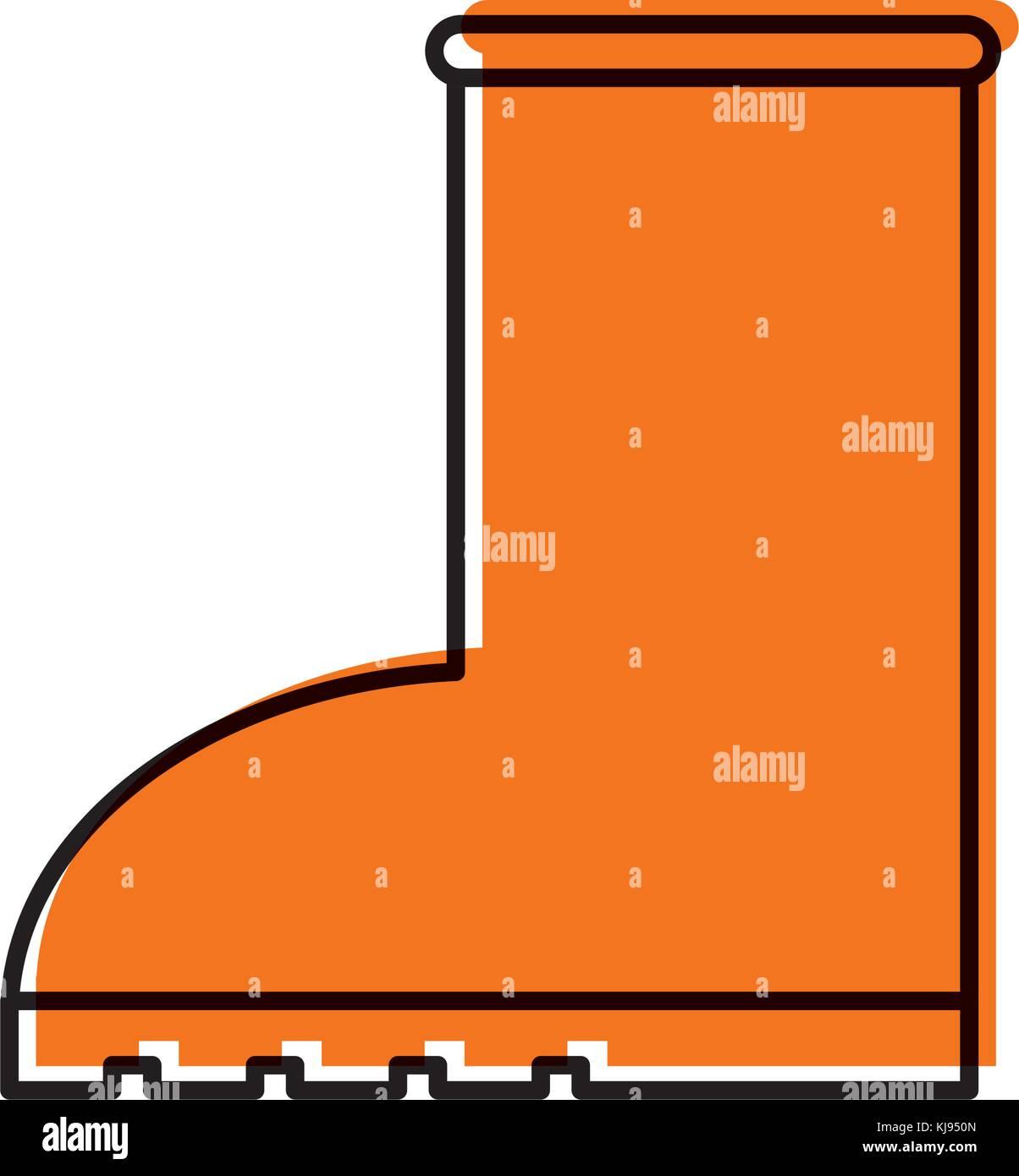 rubber boot rain seasonal icon style on white background Stock Vector
